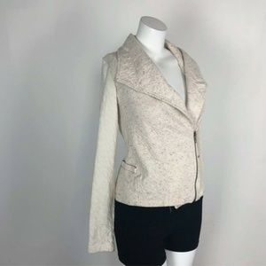 Dolan Left Coast Anthropologie Cream Moto Blazer